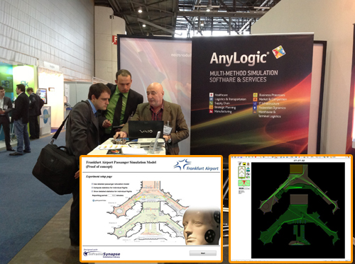 AnyLogic Europe Visits Leading Airport Terminal Event