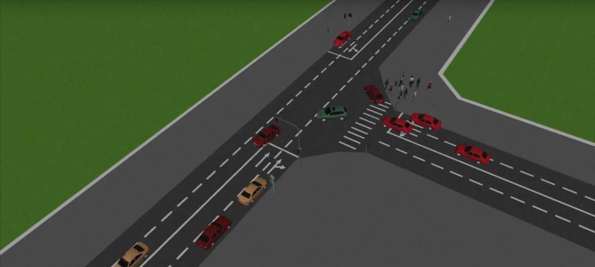 Road Traffic Simulation Software – AnyLogic Simulation Software