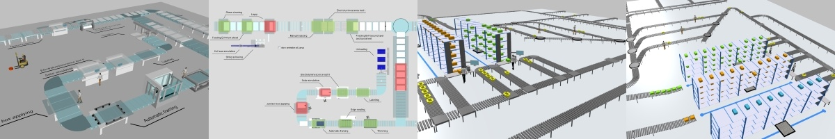 The Material Handling library in AnyLogic simulation modeling software.
