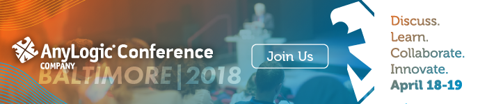 Banner for AnyLogic Conference 2018