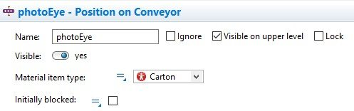 Position on Conveyor properties