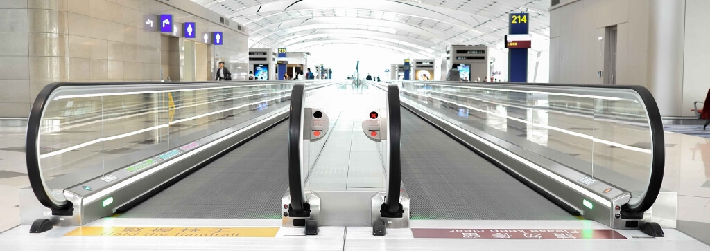 Airport passenger travelator