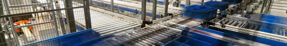 Modeling conveyors in factories and warehouses.